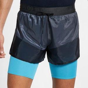 Nike Tech Pack AQ6442 Gray&Blue 2in1 Running Short
